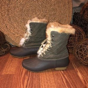 J. Crew Fur Lined Duck Boots